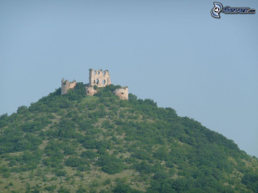 zamek, wzgórze, Słowacja