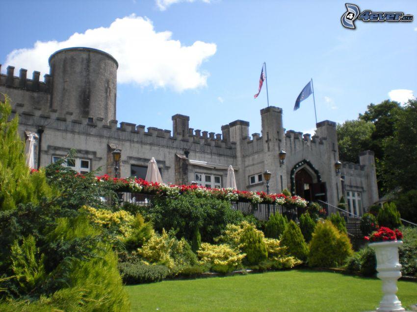 zamek, zieleń