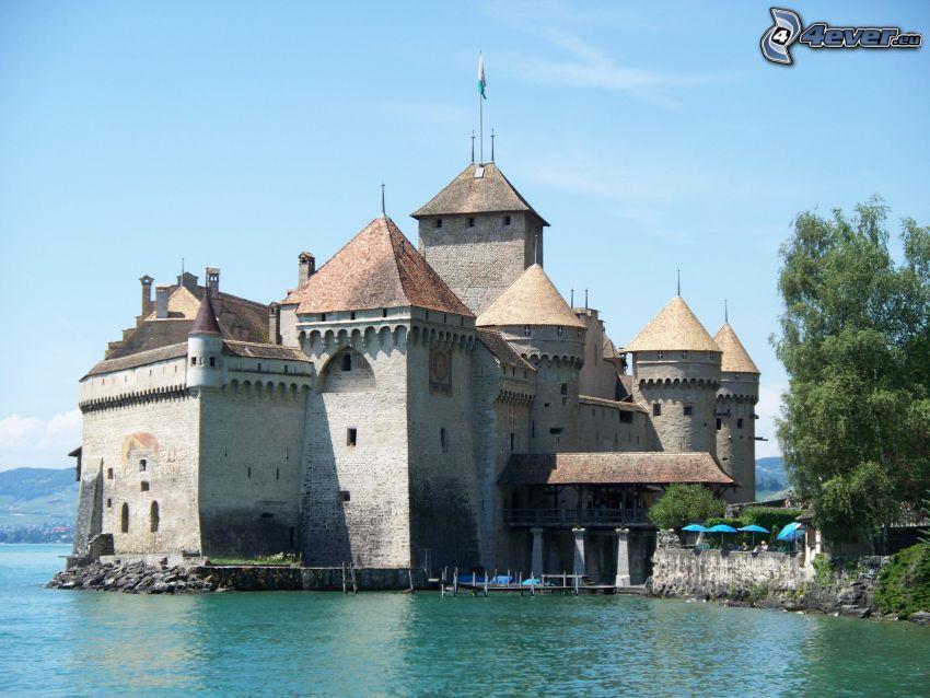 Zamek Chillon, rzeka