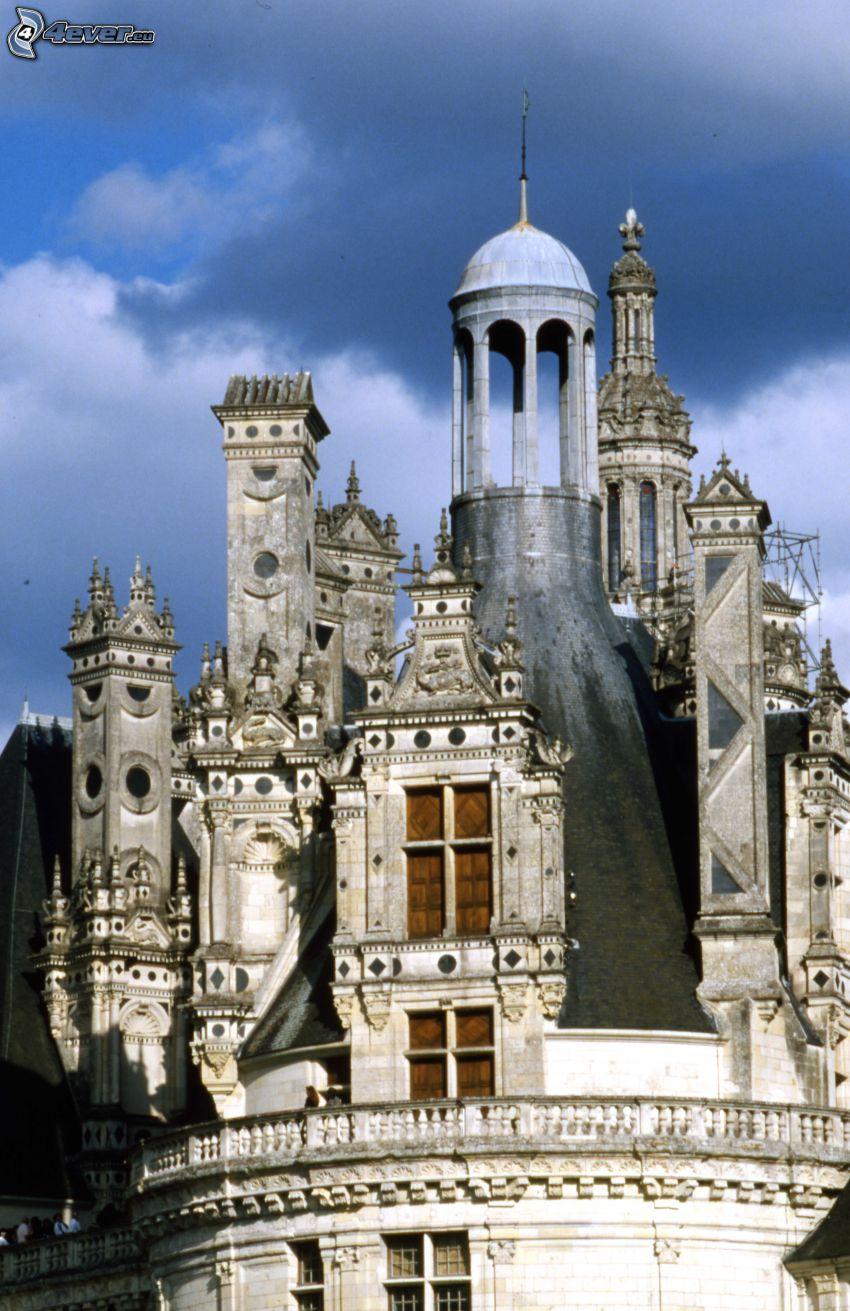 Zamek w Chambord, dach
