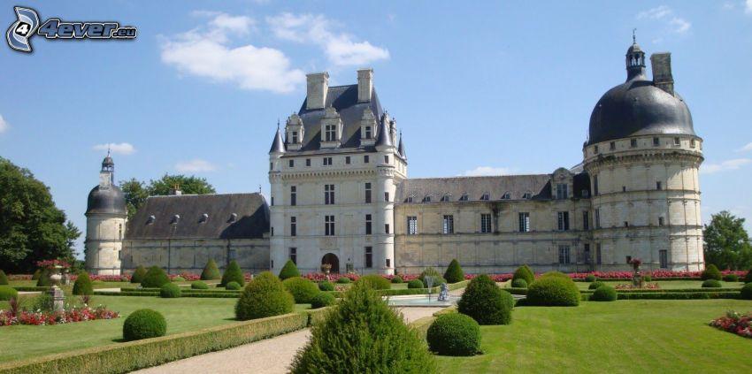 zamek w Valençay, ogród