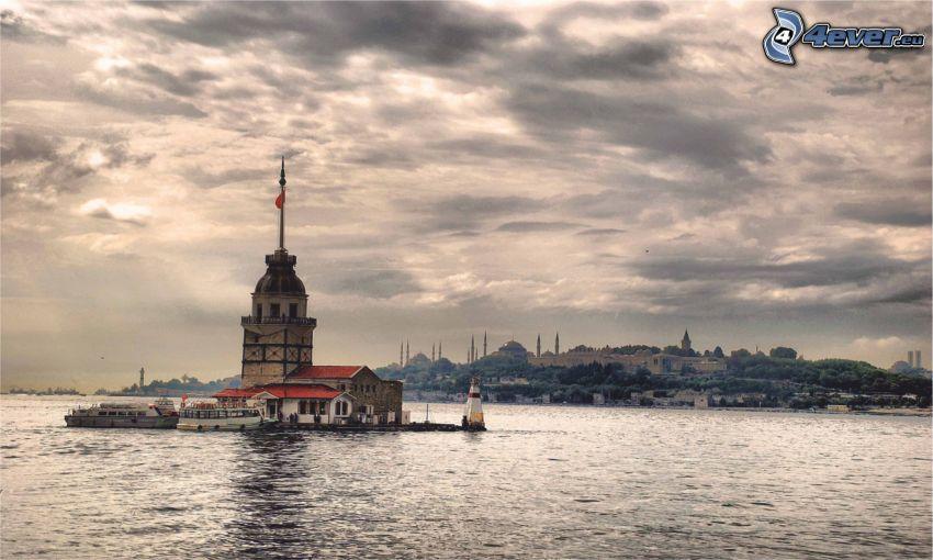 Kiz Kulesi, morze, wyspa
