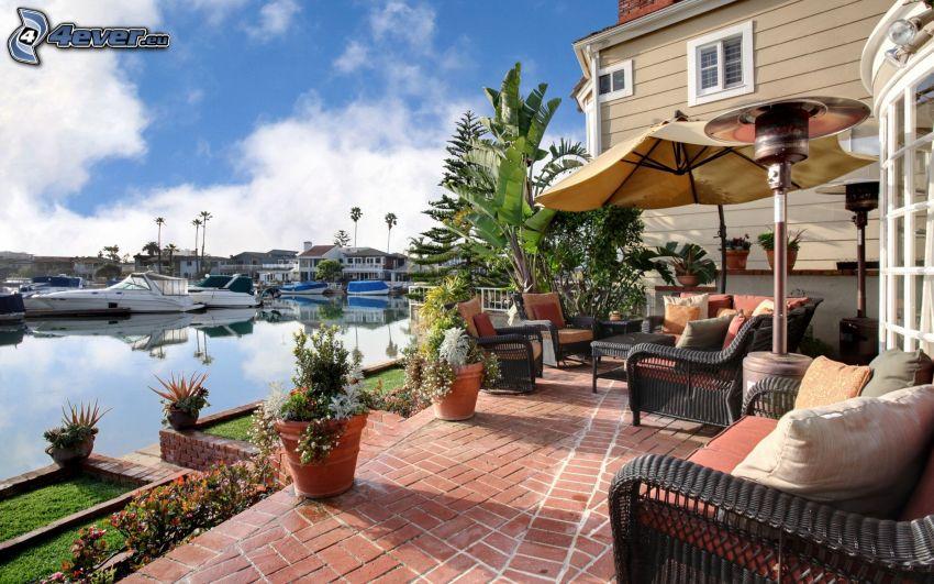 luksusowy dom, port