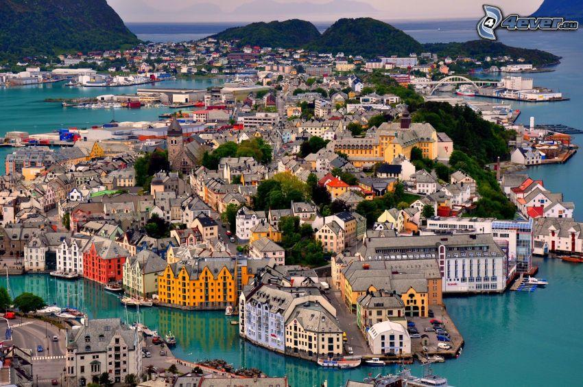 Ålesund, Norwegia, nadmorskie miasteczko