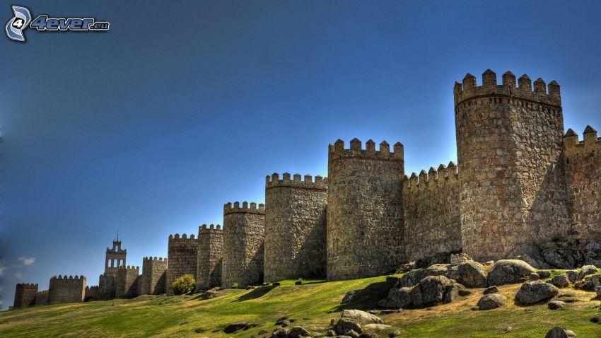 Ávila, Hiszpania, mury obronne