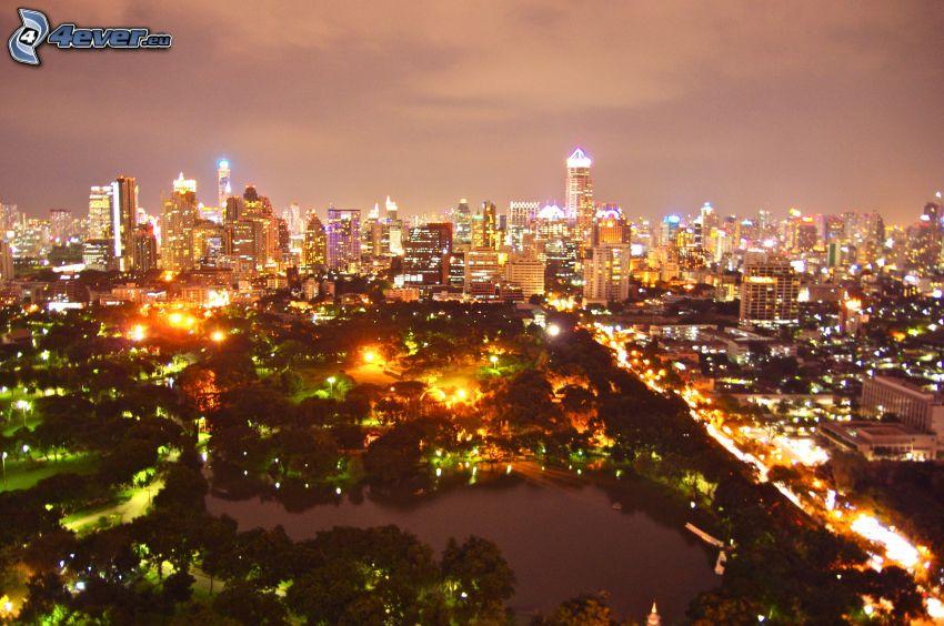 Bangkok, miasto nocą
