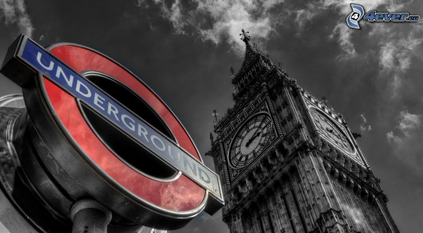 Big Ben, metro, znak
