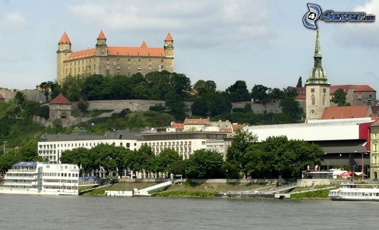 Bratislava, zamek, Dunaj