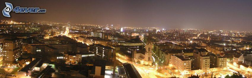 Bratysława nocą, Blumentál, miasto nocą