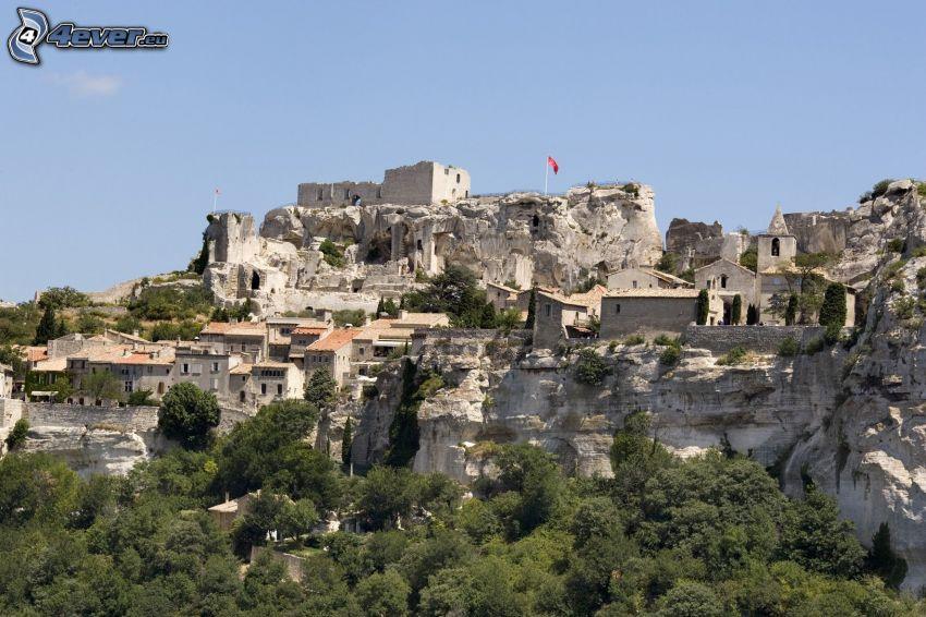 Les Baux de Provence, mury obronne