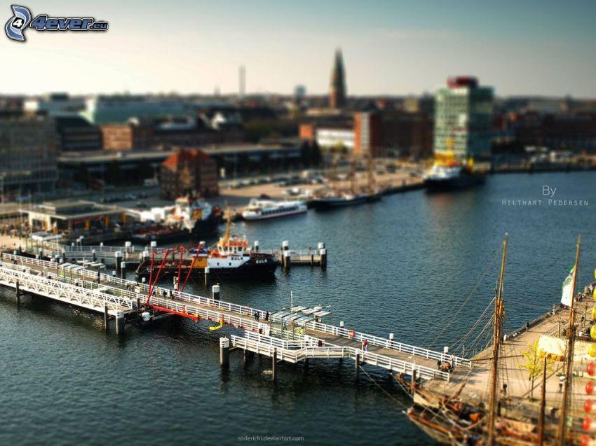 most, rzeka, diorama