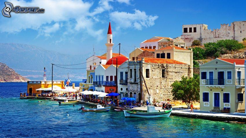 nadmorskie miasteczko, Grecja