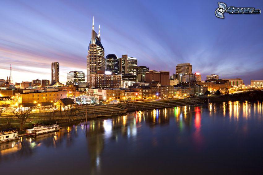 Nashville, miasto wieczorem