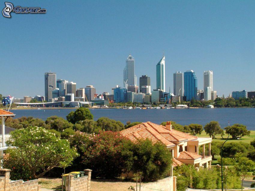 Perth, wieżowce, luksusowy dom