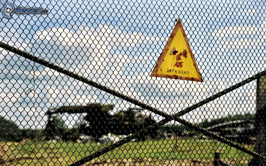 radioaktywność, płot, Czarnobyl