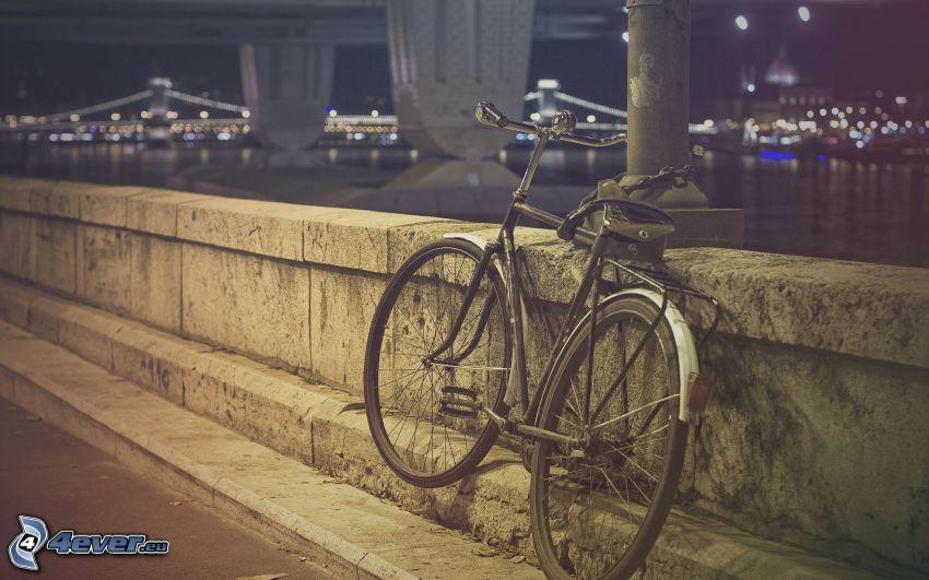 rower, nabrzeże, mosty