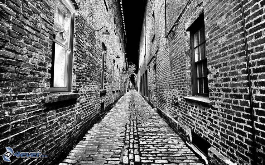 uliczka, mury