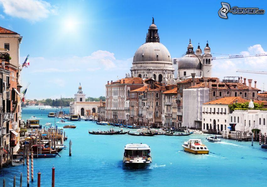 Wenecja, łódki