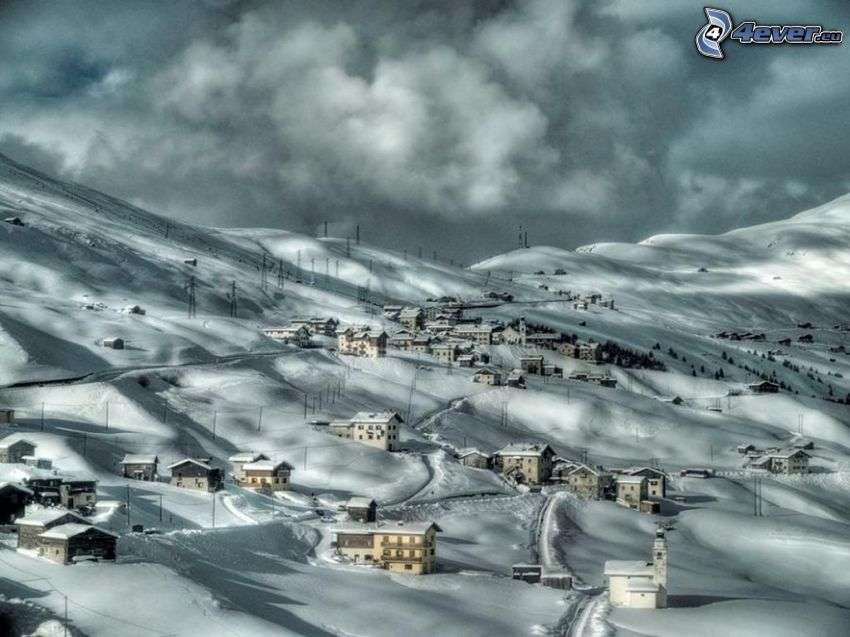 zaśnieżona wieś, Włochy