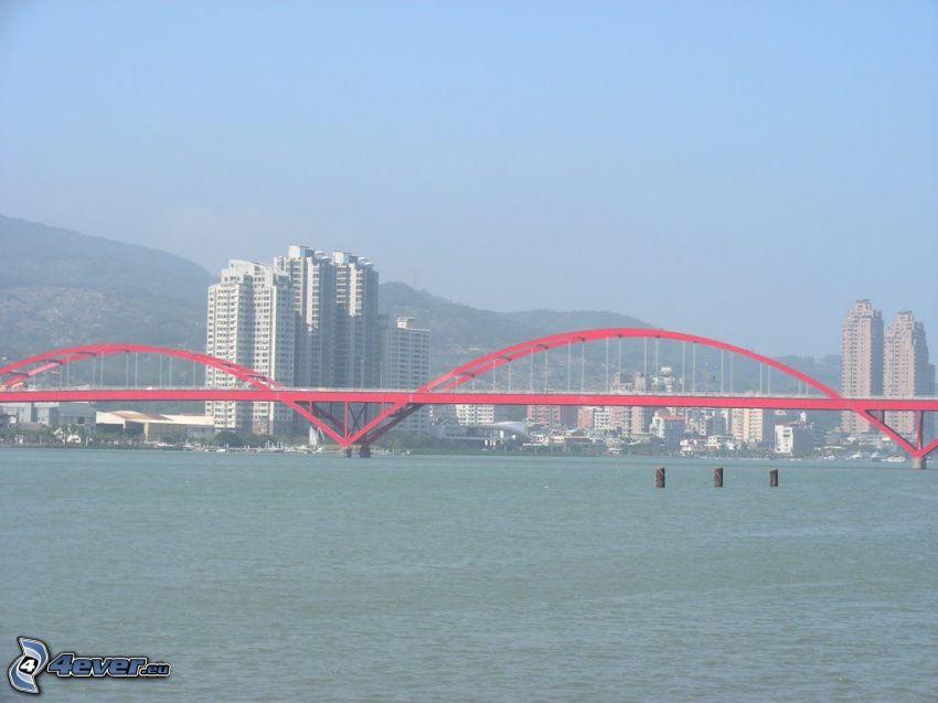 Guandu Bridge, wieżowce