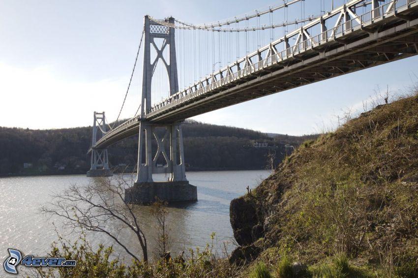 Mid-Hudson Bridge, skały