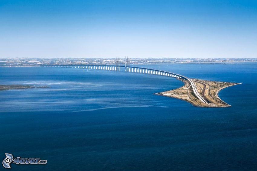 Øresund Bridge, morze
