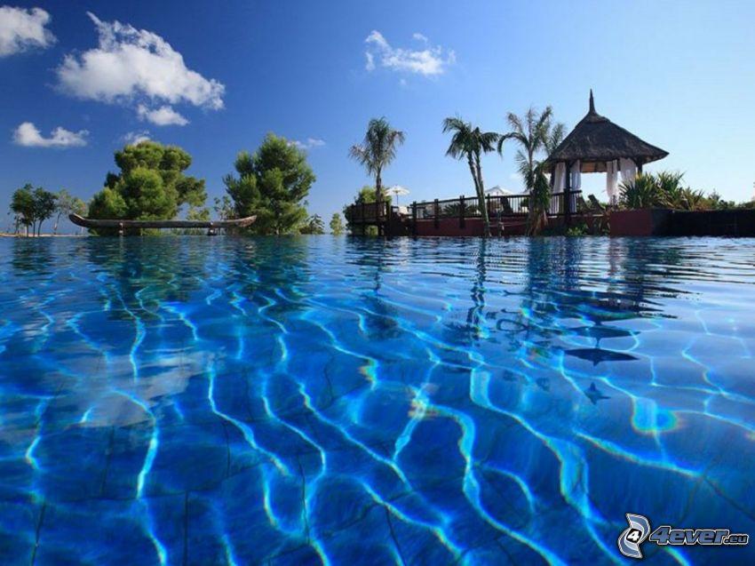 Barcelo Asia Gardens, basen, hotel, Benidorm, Hiszpania