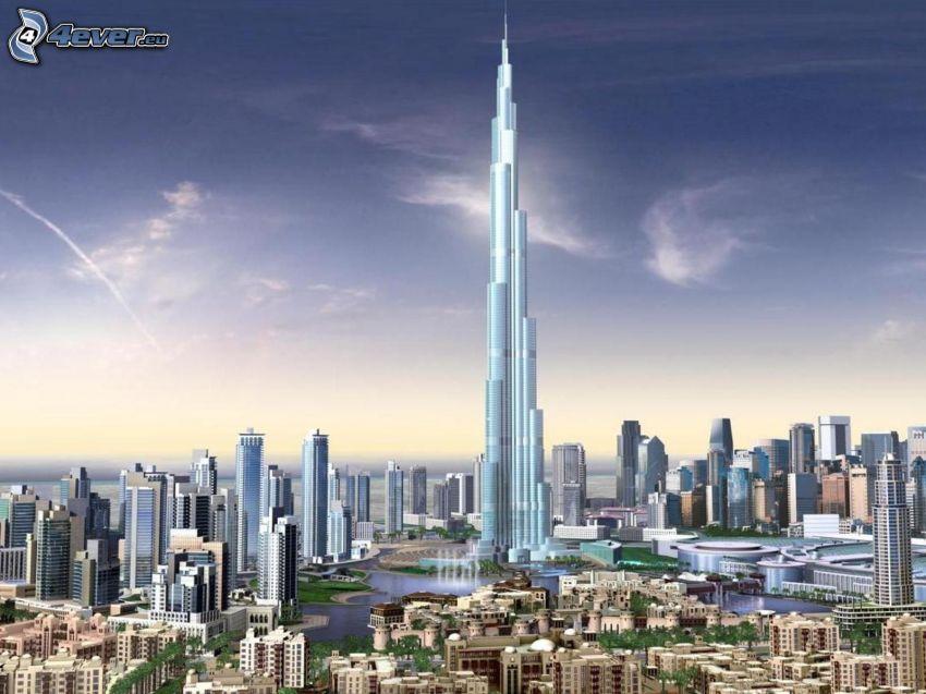 Burj Khalifa, Dubaj, drapacz chmur, najwyższy budynek świata