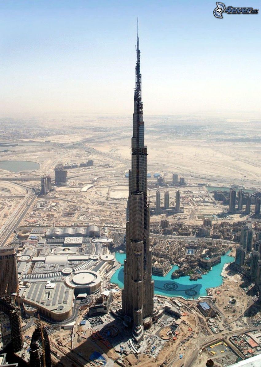Burj Khalifa, Dubaj, Emiraty Arabskie, budowla, drapacz chmur, najwyższy budynek świata