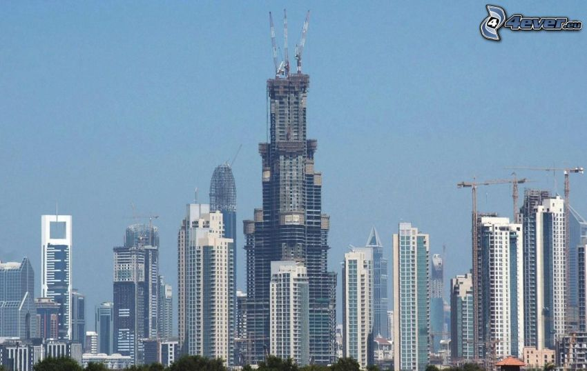 Burj Khalifa, Dubaj, Emiraty Arabskie, wieżowce