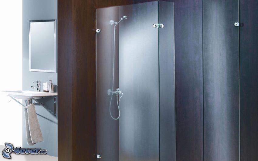 łazienka, prysznic, umywalka