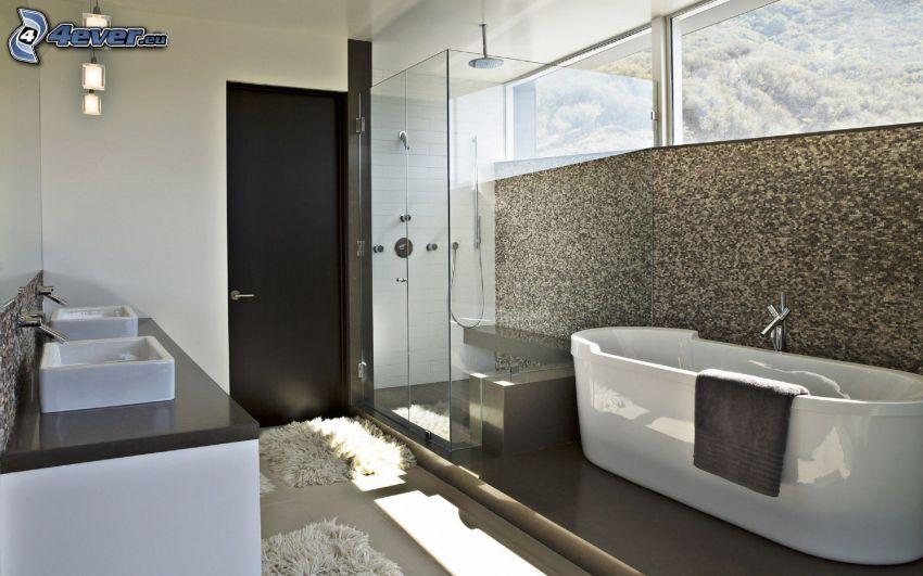 łazienka, wanna, umywalka, prysznic
