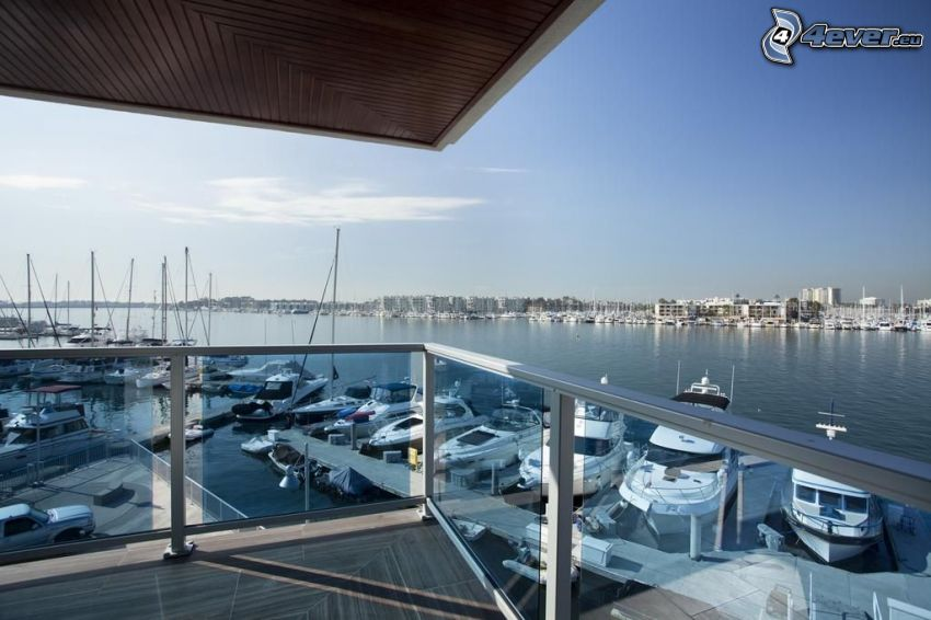 Marina Del Rey, port, statki, morze, Kalifornia