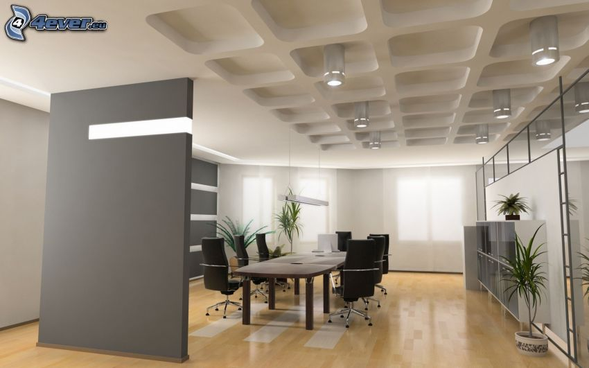 sala konferencyjna, pracownia, stół, krzesła