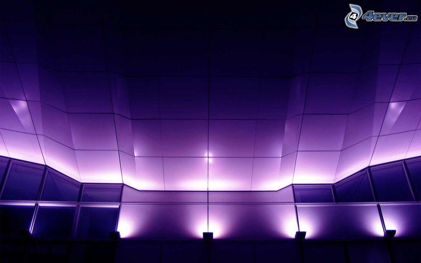 ściana, sufit, światła