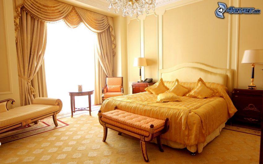 sypialnia, łóżko małżeńskie