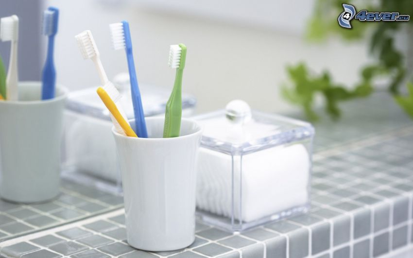 szczoteczki do zębów, łazienka