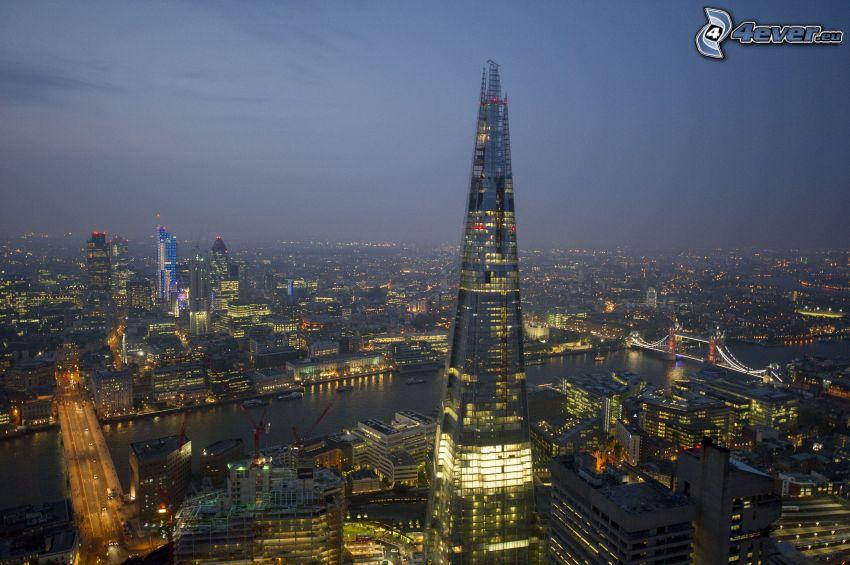 The Shard, Londyn, miasto nocą