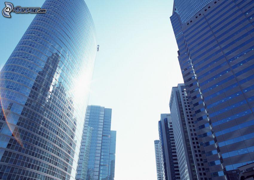 wieżowce, Szanghaj, Chiny