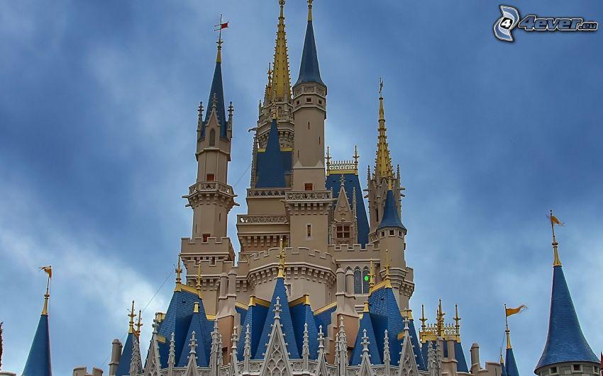 zamek, Disneyland, Florida, USA