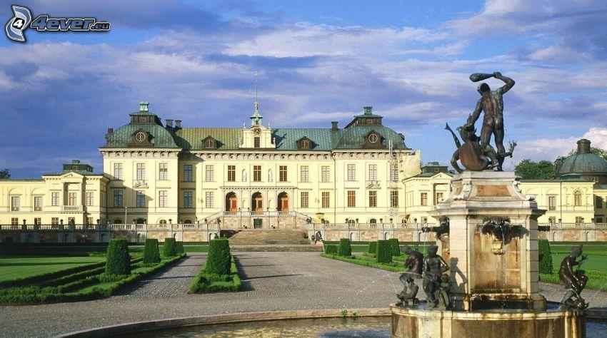 pałac, fontanna