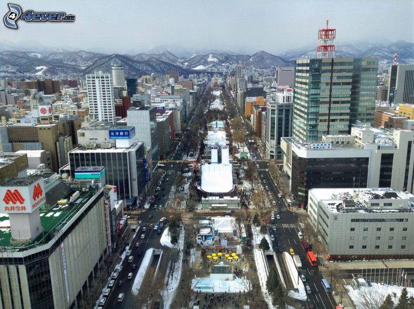 Odori Park, Sapporo, pasmo górskie