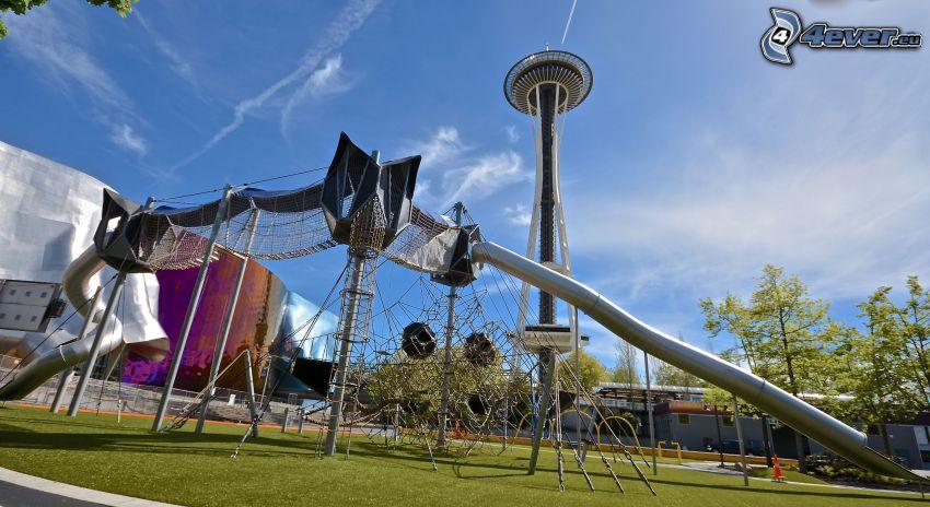plac zabaw, drapacz chmur, Seattle