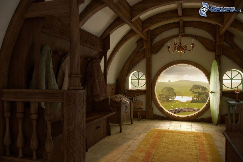pokój historyczny, okno