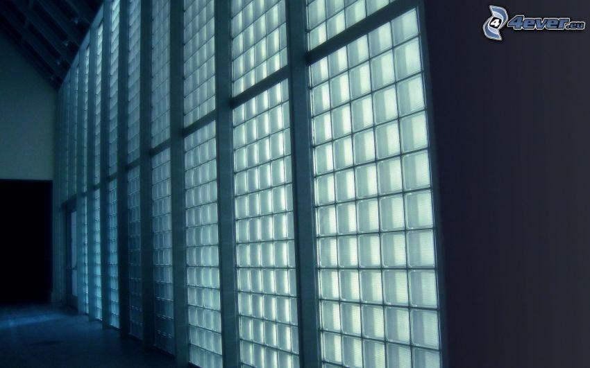 ściana, szkło