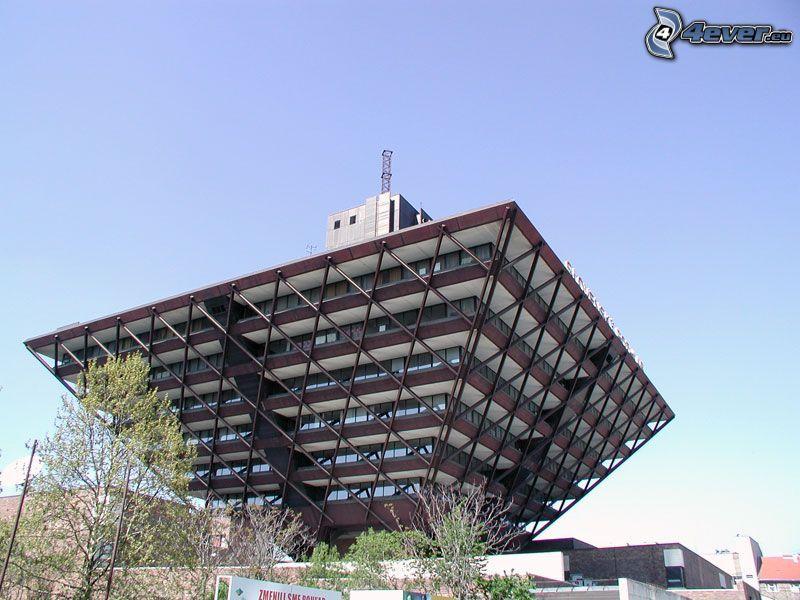słowackie radio, budowla, Bratislava, Słowacja