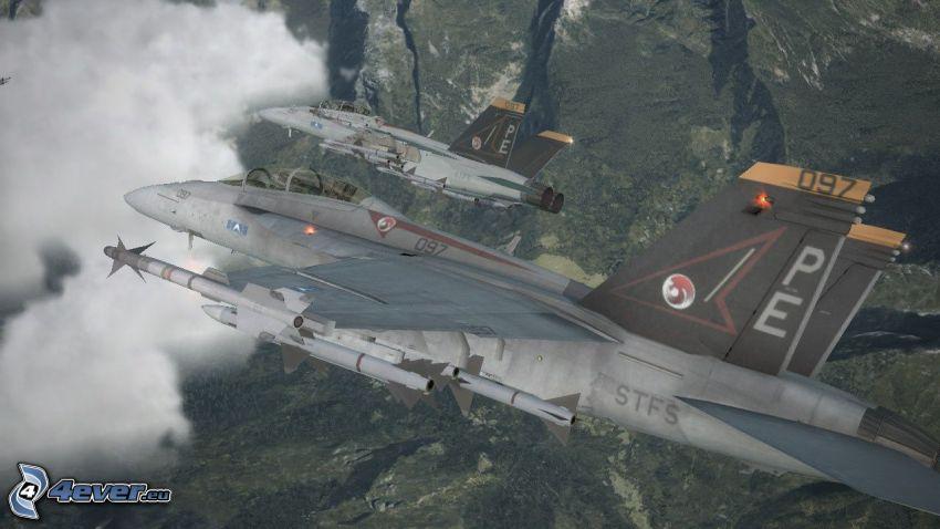 Ace Combat 6, myśliwce