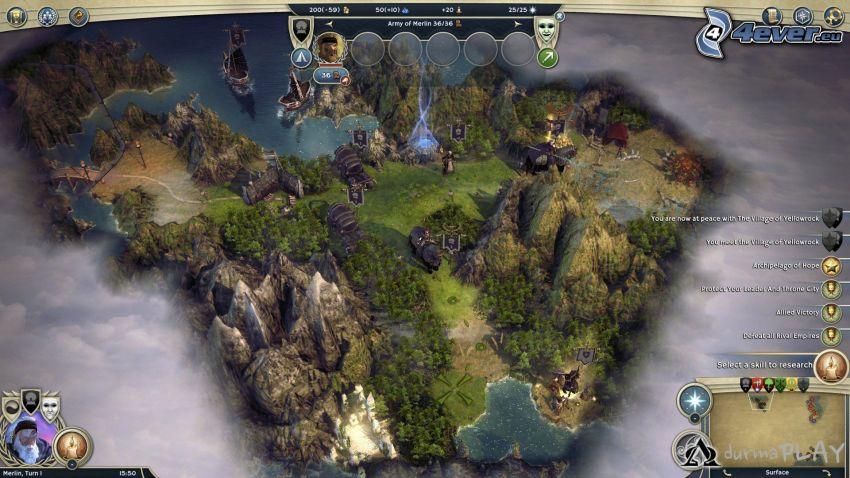 Age of Wonders, góry skaliste