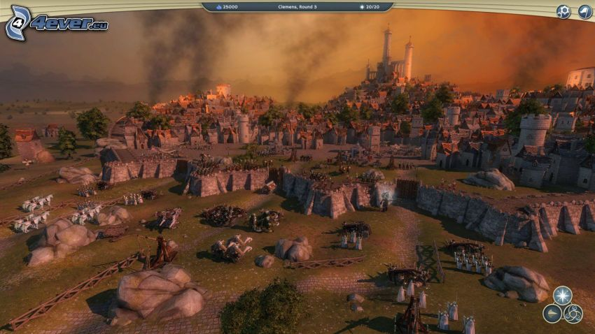 Age of Wonders, krajobraz sci-fi, wieś