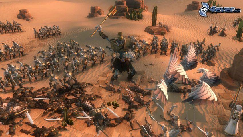 Age of Wonders, krajobraz sci-fi, wojsko